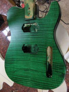 Kelly Green Tele Guitar Body