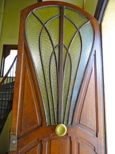 Art Nouveau door at Villa Marjorelle in Nancy, France.