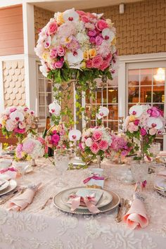 San Diego Style Weddings: Table Design Tuesday: Let Them Eat Cake