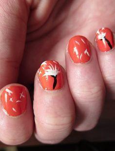nails cute nail art Nails matte and gloss Cute Nail Art, Easy Nail Art, Nail Polish Designs, Cute Nail Designs, Hot Nails, Hair And Nails, Nail Techniques, Pretty Nail Colors, Painted Nail Art