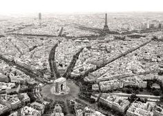 A bird's eye view of Paris