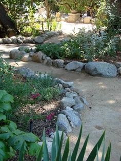 ideas for garden path ideas decomposed granite Side Garden, Garden Paths, Landscape Design, Garden Design, Landscape Borders, Decomposed Granite Patio, Path Ideas, Cold Frame, Mediterranean Garden