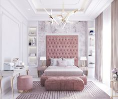 fascinating Pink Bedrooms With Images, Tips And Accessories To Help You Decorate Yours Welcome to a new collection of interior designs featuring 16 Awe-Inspiring Contemporary Bedroom Designs That You Must See Right Now. Bedroom Decor For Teen Girls, Room Ideas Bedroom, Home Decor Bedroom, Teen Bedroom Designs, Decor Room, Girls Bedroom Decorating, Elegant Girls Bedroom, Teenage Room Decor, Feminine Bedroom