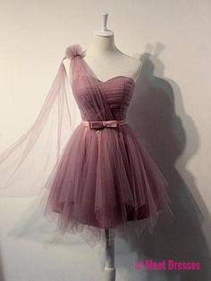 Charming Prom Dress,Cute Prom Gown,Organza Mini Prom Dress PD20182330