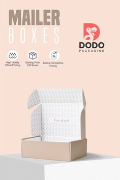Dodo Packaging provides high-quality wholesale custom mailer boxes with logo and custom packaging solutions to the customers at a low price. We offer custom mailer boxes available in all sizes, Styles, Colors, and Designs with free shipping. #mailerboxes #customprintedboxes #packagingsolutions #packagingboxes #packagingideas #printedboxes #printing #branding #boxes #dodopackaging #usa Custom Mailer Boxes, Custom Printed Boxes, Custom Packaging, Box Packaging, Packaging Solutions, Piece Of Cakes, Printing, Free Shipping, Usa