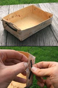 Folded Birch Bark Tray Simple, Practical and easy to make -  Bushcraft tutorial - jonsbushcraft.com