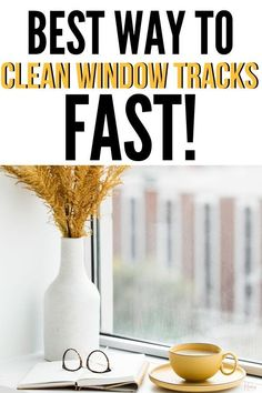 Learn how to clean window tracks fast and the right way. Get rid of any dust, dirt, and debris lingering for a fresh and clean window track. #windows #cleaning #guide #howto #best #easy #windows #home #fresh via @homebyjenn Speed Cleaning, Household Cleaning Tips, Cleaning Hacks, Cleaning Wipes, Cleaning Routines, Daily Routines, Cleaning Window Tracks, Clean Window, Bleach Water