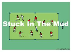 Soccer Stuck in the Mud Training Drill U6 Soccer Drills, Soccer Warm Up Drills, Soccer Warm Ups, Soccer Games For Kids, Soccer Workouts, Football Drills, Soccer Practice, Soccer Skills, Soccer Coaching