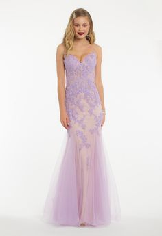 b6c00deb221a3 Blow them away the moment you arrive in this elegant evening gown! The spaghetti  strap