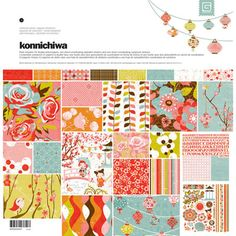 Konnichiwa Collection Pack (Papers & Stickers) - paper craft kits and album kits by Basic Grey - This fantastic collection pack from Basic Grey is named