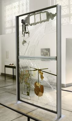 Marcel Duchamp. The Bride Stripped Bare by Her Bachelors, Even (The Large Glass). 1915-23. Oil, lead wire, foil,dust, and varnish on glass