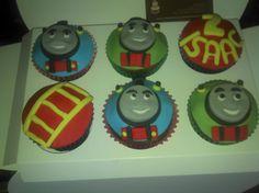 Thomas the tank cupcakes