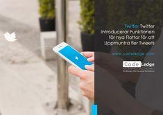 Twitter Introducerar Funktionen för nya Flottor för att Uppmuntra Fler Tweets. #Socialamedier #Socialamedier #Digitalmarknadsföring #Twitter #Twittermarknadsföring #SEOverktyg #SEOtips #CodeLedge #vaxjo #växjö #växjökommun #vaxjokommun #vaxjocity #växjöcity #Sweden Twitter, Social Media Marketing, Encouragement, Coding, Feelings, News, Design, Programming