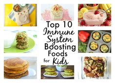 These ideas and recipes using the top immune system boosting foods for kids will keep your children healthy all year long!