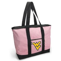 WVU Pink Tote Bag West Virginia University - For Travel or Beach Best Unique Gift Ideas for Her, Women, or Ladies (Apparel)  http://www.99homedecors.com/decors.php?p=B004AGM8WS  B004AGM8WS
