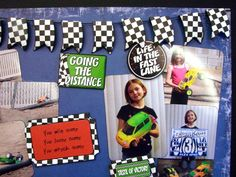racing scrapbook page ideas | Awesome 2 page scrapbook layout Becky! Thanks for sharing!