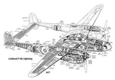 Lockheed Lightning Aircraft Cutaway Poster Print Hi Res Ww2 Aircraft, Military Aircraft, Fighter Aircraft, Military Weapons, Fighter Jets, Cutaway, Lockheed P 38 Lightning, Lightning Aircraft, Aircraft Design