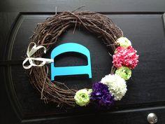 Door wreath. Simple. Love it.
