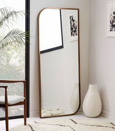 West Elm Metal Framed Floor Mirror