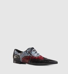 Gucci gia python brogue lace-up shoe