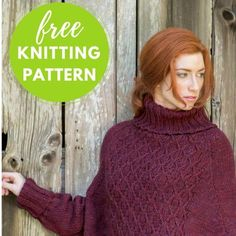 FREE KNITTING PATTERN! Click the link in our bio to download the Galilee Swancho Pattern. Part poncho, part sweater and the best of both!