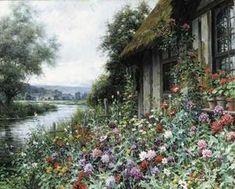 Cottage au printemps, la Normandie - (Louis Aston Knight)