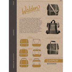Schnittmuster: Cooper - für Rucksack, Tasche oder Messenger bag