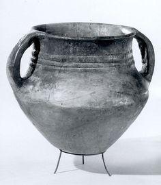 Pot (Period: Iron Age II Date: ca. 9th century B.C. Geography: Iran, Hasanlu Culture: Iran Medium: Ceramic)