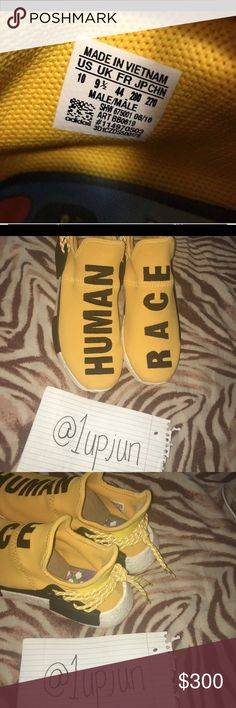 59a005293282 Human Race Yellow Size 10 OG Box Great Condition comes with yellow laces  and white laces adidas Shoes Sneakers