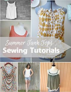 These summer tank tops sewing tutorials will launch you into the season with a whole new wardrobe