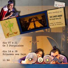 E a Trupe não pára! Mais um flyer desenvolvido por Q'Ideia para a temporada de apresentações no Sesc Santo Amaro, em setembro
