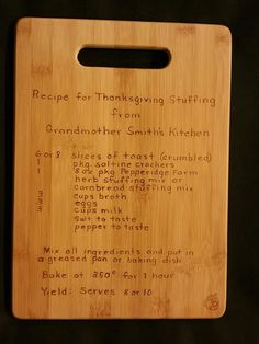 Custom engraved cutting board for Brittany from 3DCarving on Etsy