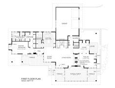 Prairie Style House Plan - 3 Beds 2.5 Baths 2979 Sq/Ft Plan #454-7 Main Floor Plan - Houseplans.com