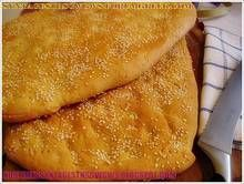 Easy and delicious traditional homemade bread for the fasting period( HOMEMADE LAGANA ) Greek Recipes, My Recipes, Cooking Recipes, Cookie Dough Pie, Greek Bread, The Kitchen Food Network, English Food, English Recipes, Bread And Pastries