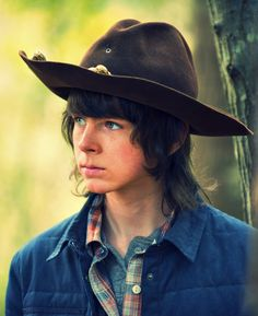 Hey, remember that time Carl used to have 2 eyes? Haha! Too soon?