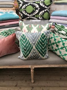 Garden Cushions, Custom Cushions, Sheepskin Rug, Ikat Fabric, Velvet Cushions, Seat Pads, Green Velvet, Decorative Pillow Covers, Cushion Covers