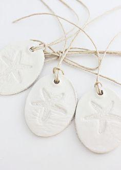 Beach House Living: White Clay Tags, Ornaments and Wedding Favors: Beachy | Shabby | French | Rustic