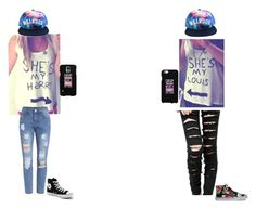 """Bestie outfit(3)"" by hellokitty-780 ❤ liked on Polyvore featuring LG, Converse and Vans"