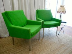 Original Rare Fler Arm Chairs Australian Mid Century Fred Lowen 1950s 60s Green