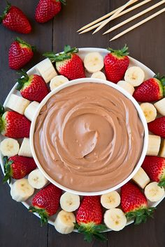 Chocolate Fruit Dip | Cooking Classy
