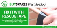 Rescue tape can be used for both permanent and temporary repairs. Visit BuySpares #lifestyle blog to find out more