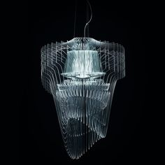 "Zaha Hadid Designs ""Transparent"" Chandelier"