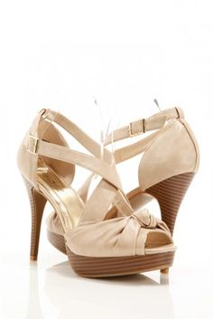 Knotted Bow Crisscross Heels with great design and fantastic women shoes
