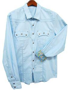 Toku Clothing Sky Blue Eyelet Shirt
