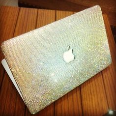 SAMPLE SALES Clear crystal laptop cover fr Macbookair 11  handmade w/ Swarovski element