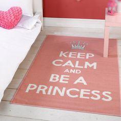 keep calm pink bedspreads | Children's rug in pink. Modern rug. Keep Calm Rug