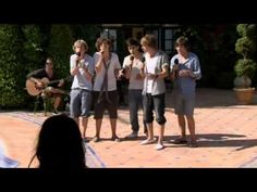 """One Direction """"Torn"""" Judges Houses (first song sung by one direction on the X-Factor) Happy Birthday 1D you made it from the bottom of the stairs (video diaries) to the top of the charts(: July 23, 2010 #2yearsof1D"""