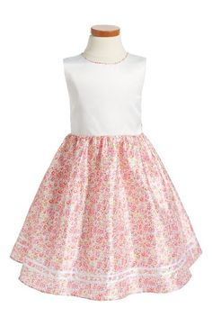 Free shipping and returns on Dorissa Heather Fit & Flare Dress (Toddler Girls, Little Girls & Big Girls) at Nordstrom.com. Colorful blooms pattern the flouncy, tulle-lined skirt of a party-ready dress that ties behind the waist.