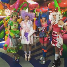 #MONSTERGIRL at #MUSHROOMDISCO #kawaiimonstercafe let me introduce from left side #CRAZY #BABY #CANDY #DOLLY