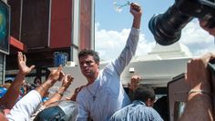Leopoldo Lopez arrested in Caracas, Venezuela, March 2014.